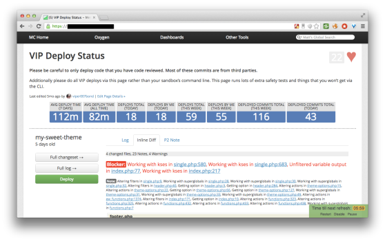 VIP Deploy Status-inline-diff